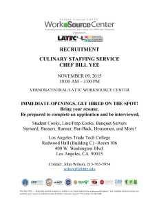 Culinary Staffing Recruitment 11 09 15
